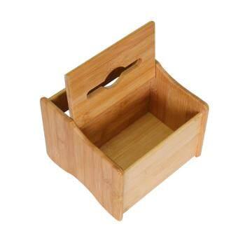 การเปรียบเทียบราคา BolehDeals Bamboo Tissue Box Napkin Holder Case Cover Remote Control Holder A find price - มีเพียง ฿388.49