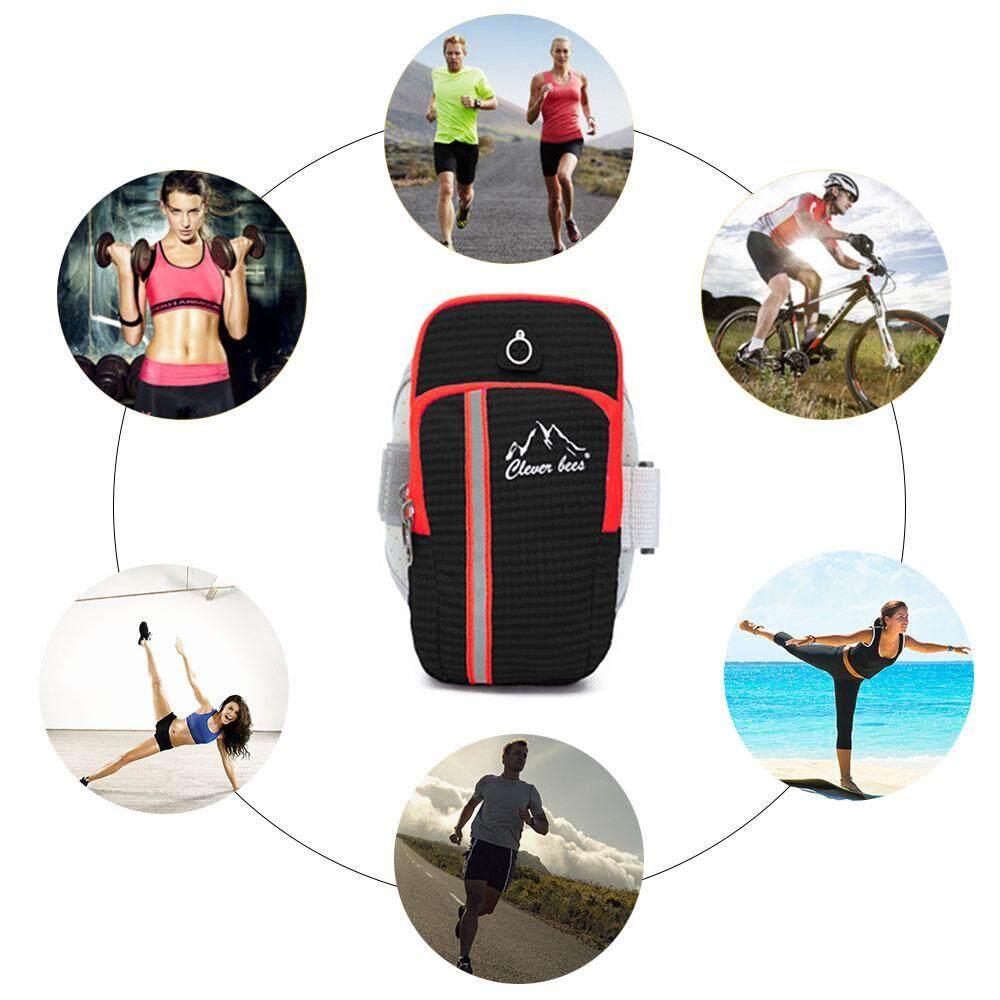 ... Kantong Ganda Multifungsi Outdoor Tempat HP Di Lengan Umum Smartphone Tas  Tangan Tahan Air Colokan Headphone b7871e6a5d