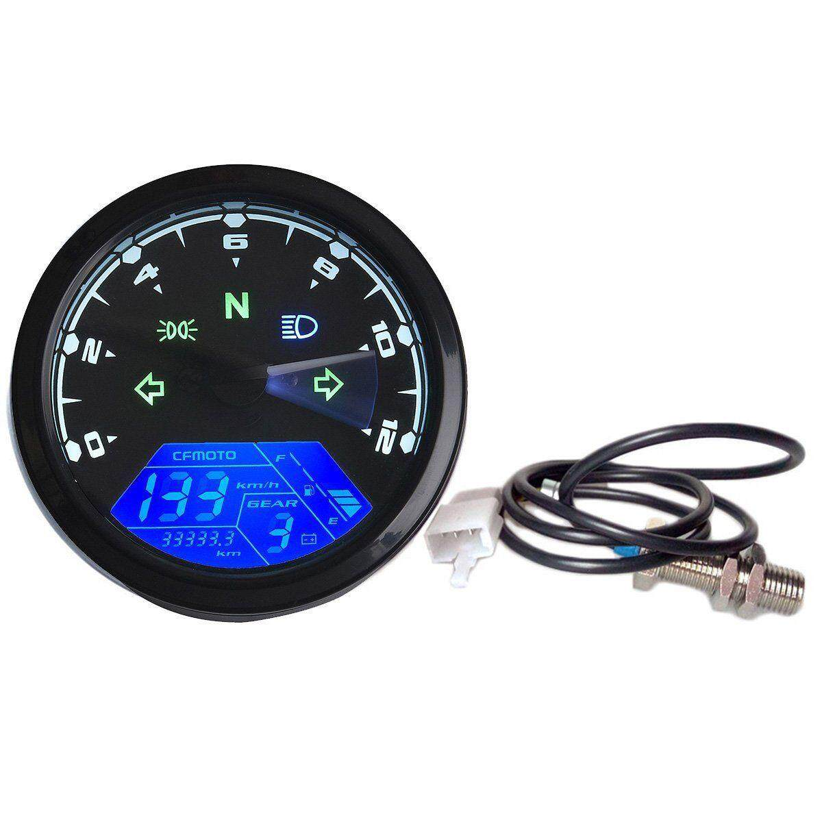 beautymaker 12000RPM KMH/MPH LCD Digital Gauge Motorcycle Speedometer  Odometer Motor Bike