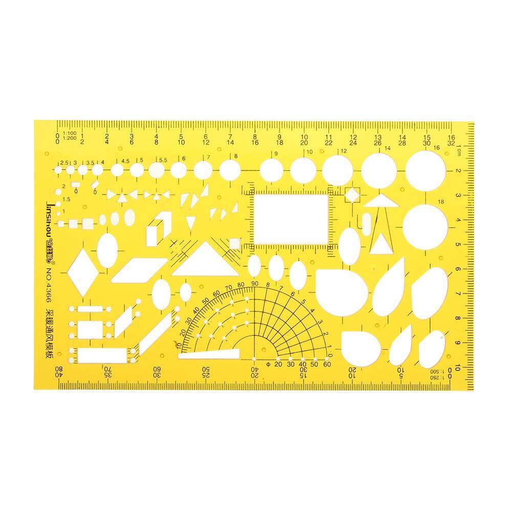 Mua 4366 Heating Ventilation Design Drawing Template KT Plastic Flexible Symbols Ruler
