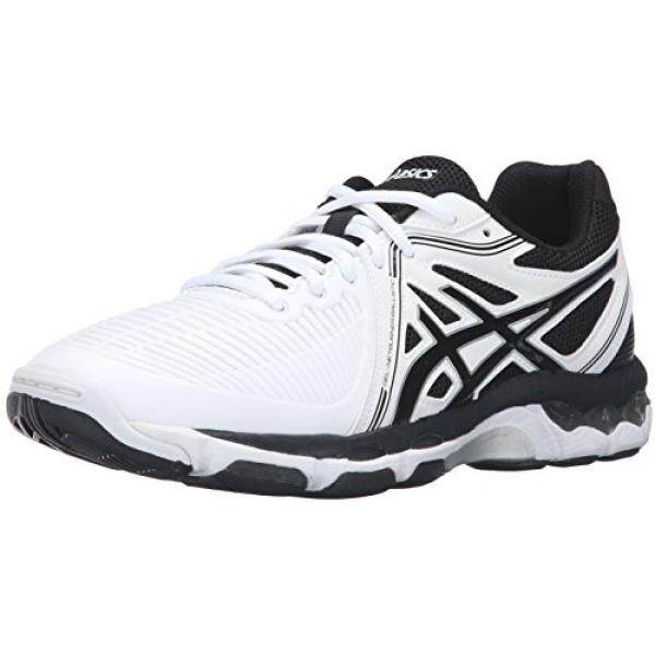 ASICS Womens Gel-Netburner Ballistic Volleyball Shoe, White/Black/Silver, 10.5 M US / From USA