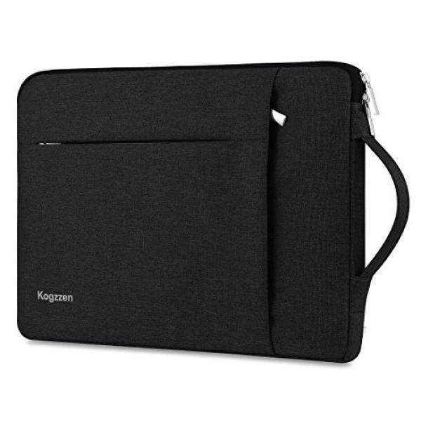 Laptop Sleeves Kogzzen 11-12 Inch Laptop Sleeve Shockproof Notebook Bag for MacBook Air 11.6 inch/MacBook 12 inch/Surface Pro 2017/4/3, Lightweight Tablet Case, Chromebook Dell Samsung HP Asus Acer - Black - intl