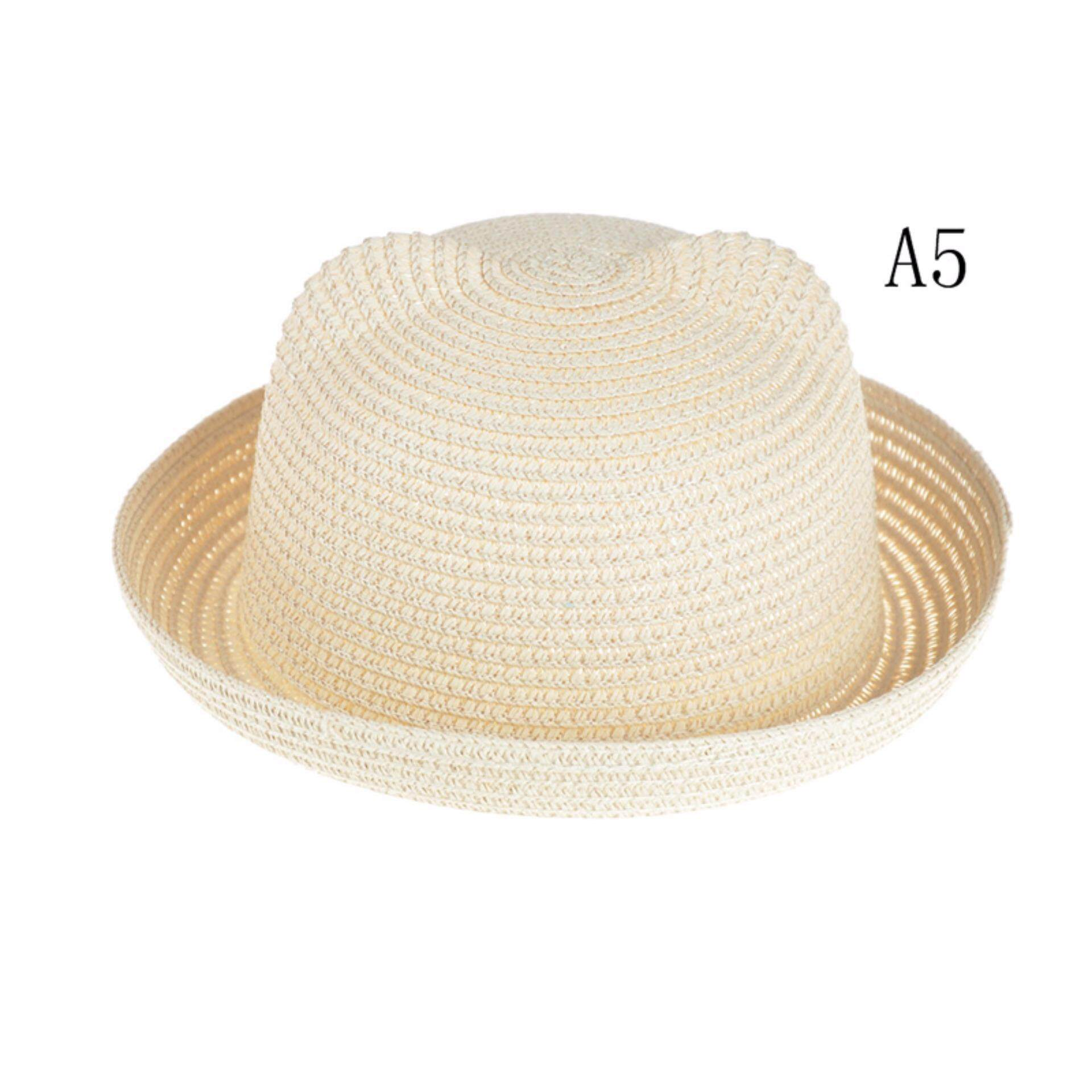 1994cbb6ce3 Baby Hats Fashion Ears Straw Cute Hats For Girls Bucket Hat Boys Cap  Children Sun Summer