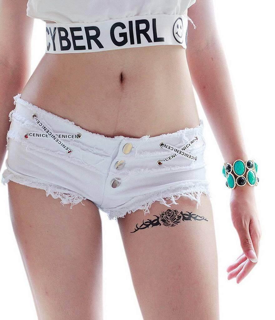 c43730a073 Bigood Ocdcident Summer Low Waist Denim Jeans Shorts Hot Pant for Women