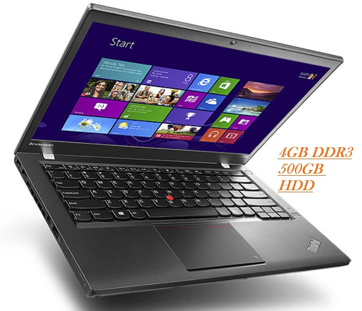 (REFURBISHED)Lenovo ThinkPad T440  Intel core i5 4300U Vpro Processor 1.9GHZ/4GB DDR3/500GB HDD/INTEL HD  GRAPHIC/14DISPLAY/W8 PRO Malaysia