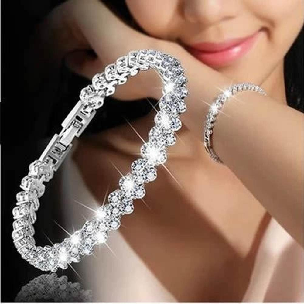 Women Bracelets Zircon Crystal Bangle Exquisite Luxury Fashion Jewelry Diamond Intl