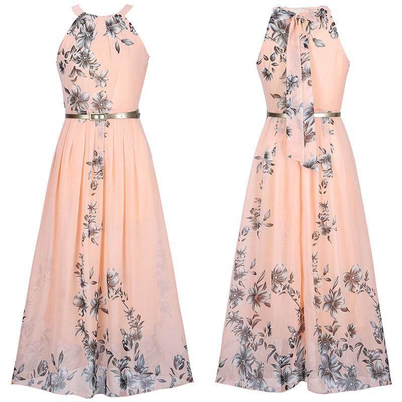 Women 5XL 6XL Plus Size Chiffon Sleeveless A-Line Dresses Summer Party Dinner Dress Sundress