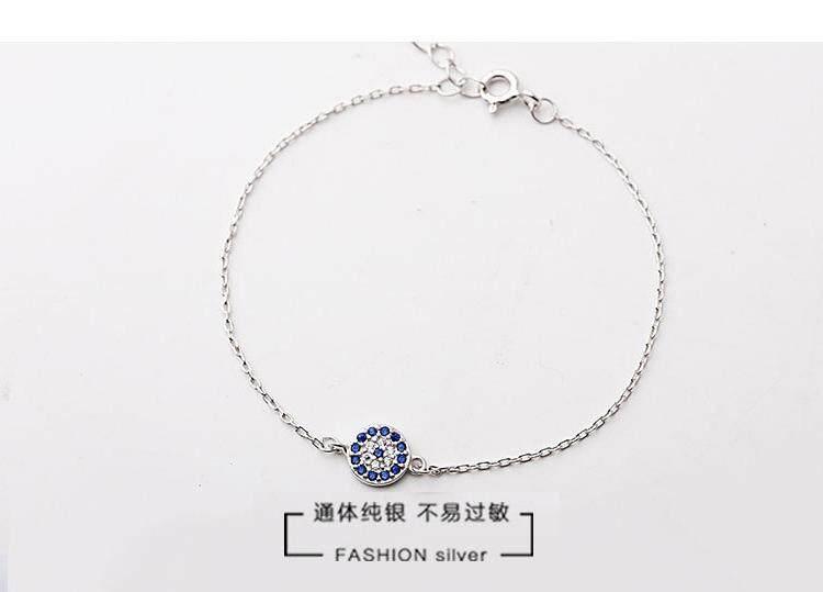 【Gelang emas putih】S925 sterling silver kalung wanita versi Korea dari mahasiswa sederhana Sen