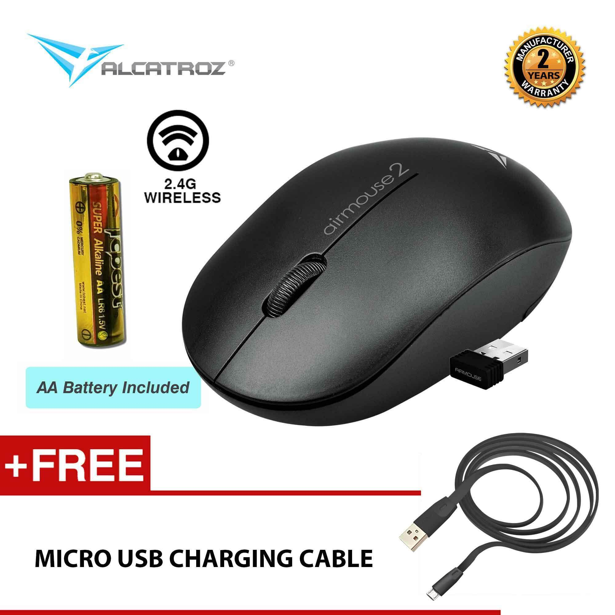 AirMouse 2 High Resolution Wireless Mouse Free Charging Cable By Alcatroz Malaysia