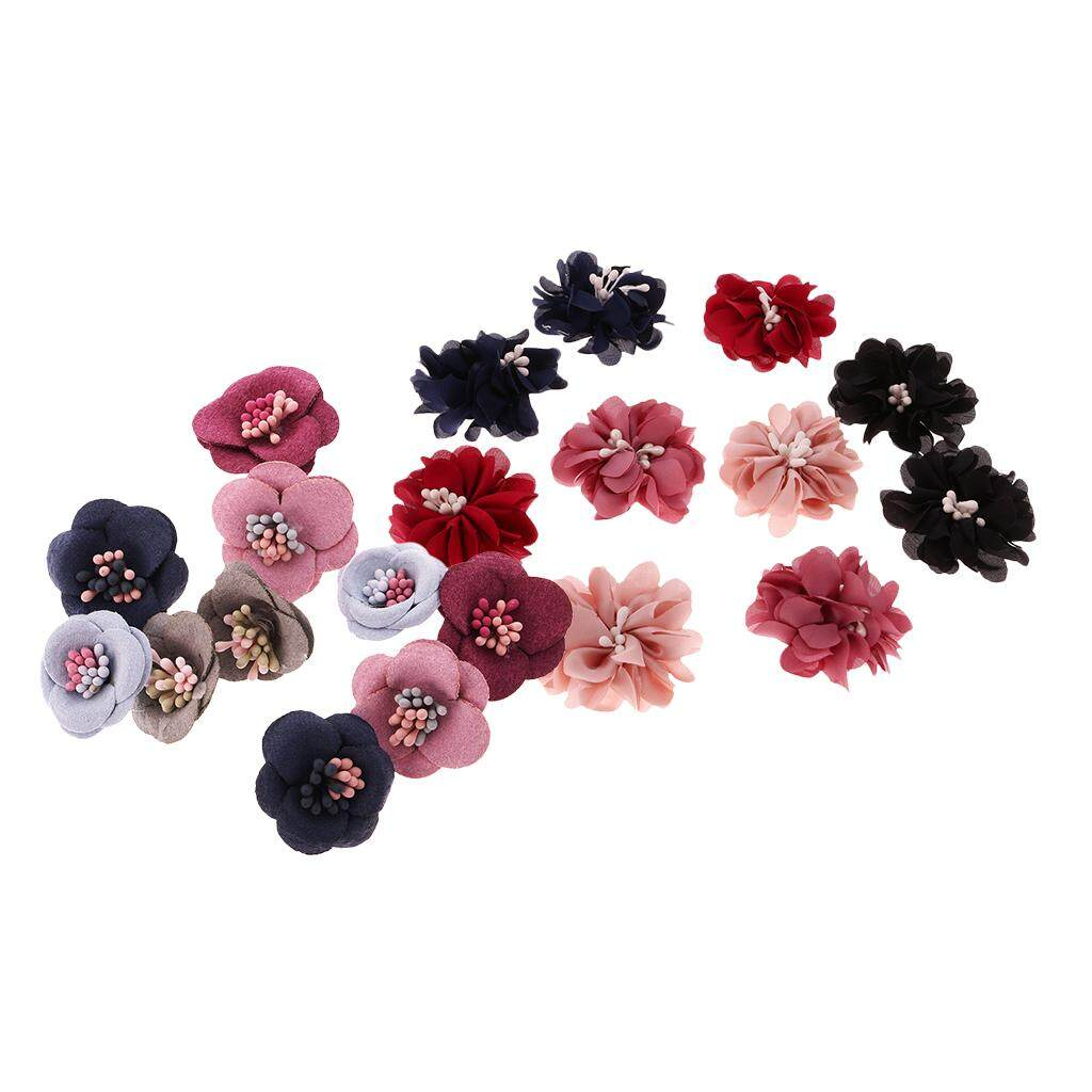 Bolehdeals 20pcs Fabric Flower Applique Sewing Embellishment For Clothing Decoration Diy Hair Bow Crafts By Bolehdeals.