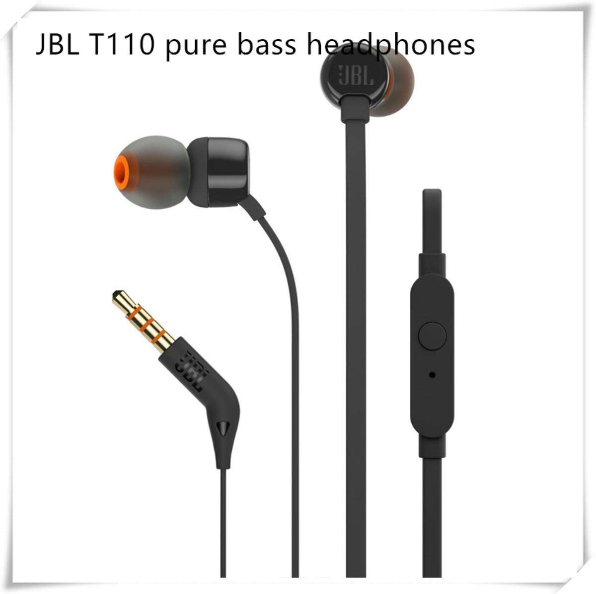 JBL T110 Pure Sound Bass Wired In-Ear Headphones Headset With Microphone