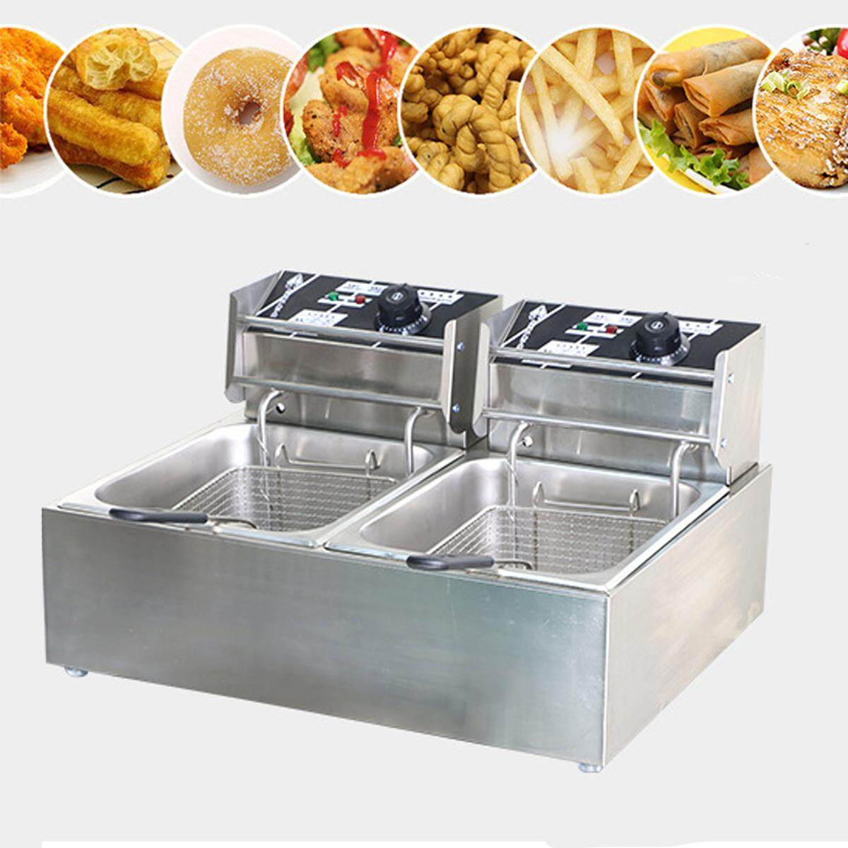 Chef Electric Commercial Deep Fryer Twin Frying Basket Chip Cooker 5000w - Intl By Audew.
