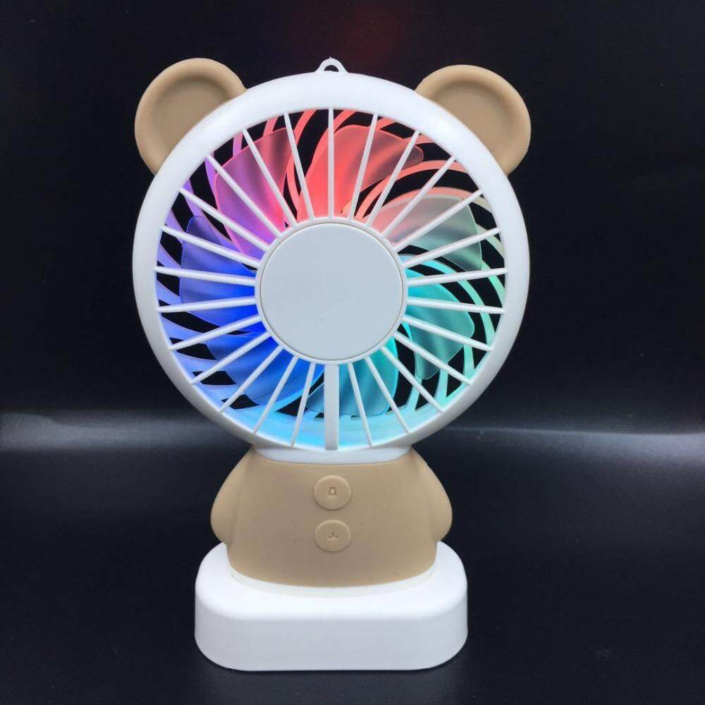 2018 Elegant Style LED Rechargeable Bear Design Mini Handheld Fan