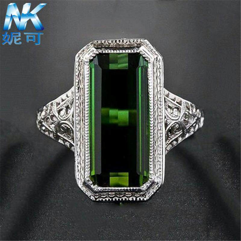 Nicole wish Europe and America party ring natural grandmother emerald wedding ring birthday gift engagement -