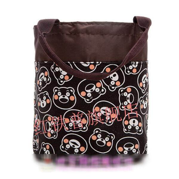 Cute Cartoon Round Drawstring Bunch Portable Handy Lunch Box Bag Lunch Bag Lunch Box Bag Drum