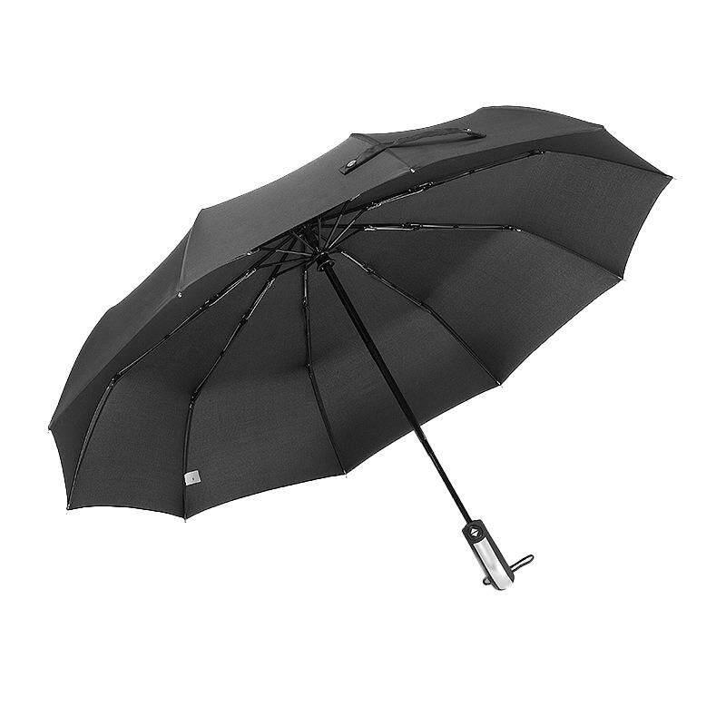 Jomoo Store ลมร่มพับอัตโนมัติอัตโนมัติชายหรูหราร่มทนลมสำหรับผู้ชาย Rain สีดำเคลือบ - Intl By Jomoo Store.
