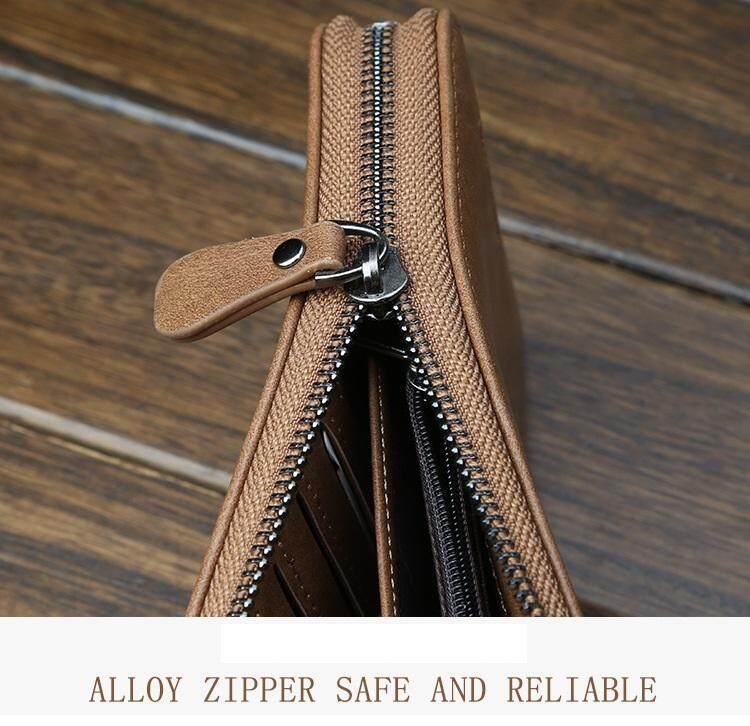 BYT Baellery Long Women Leather Zipper Wallet 201502 ( Black ) -Intl. Source .