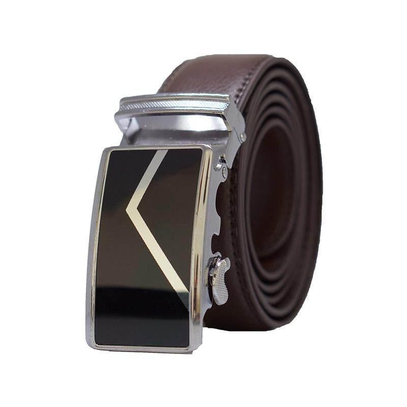 Original A64 Calf Skin Business Man Leather Automatic Men Buckle Belt - Adjustable Strap for Size M , L