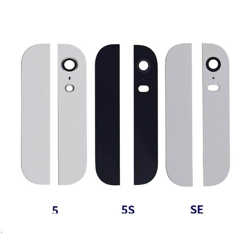 Penutup Belakang Kaca Belakang Perumahan untuk iPhone 5G 5 S SE Atas dan Bawah dengan Lensa Flash Kamera Yang Telah Terpasang 3 M Perekat
