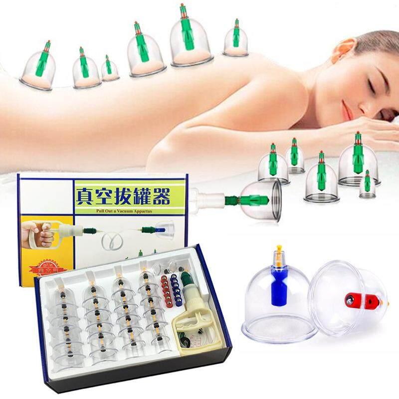24 Pcs/set Mangkuk Cakum Set Pijat Kaleng Cina Bekam Medis Set Bekam Antiselulit Terapi