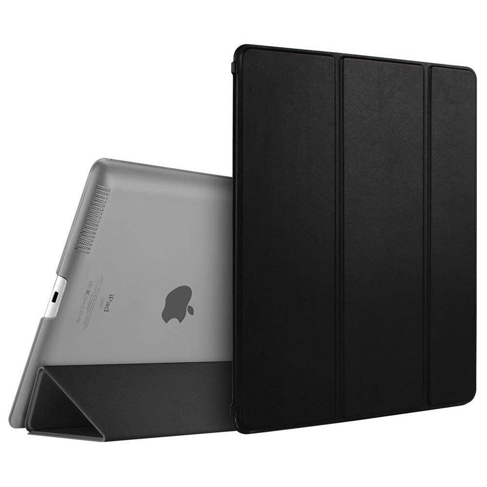 For iPad 2 3 4 Case, Smart Case Cover Translucent Back Magnetic Cover with Auto Sleep/Wake Function [Ultra Slim][Light Weight] (Black)