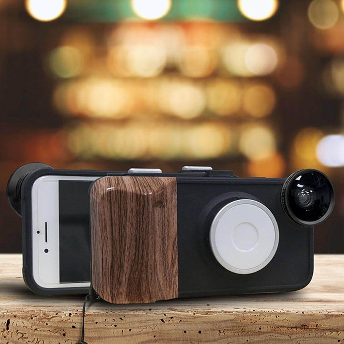 Hình ảnh RK23 for iPhone 8 & 7 Selfie 9 Levels of Brightness Beauty Fill Light Phone Case, With Wide Angle + Macro + Fisheye Lens(Black) - intl