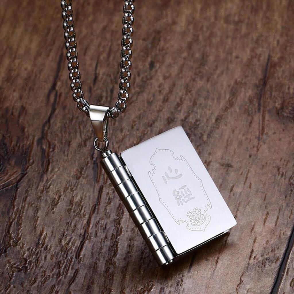 Buy Sell Cheapest Kunci Teks Kalung Best Quality Product Deals Buka Rantai Bolehdeals Titanium Buddha Pesan Link Liontin Pria Perhiasan Fashion Yang Dapat Dibuka Buku
