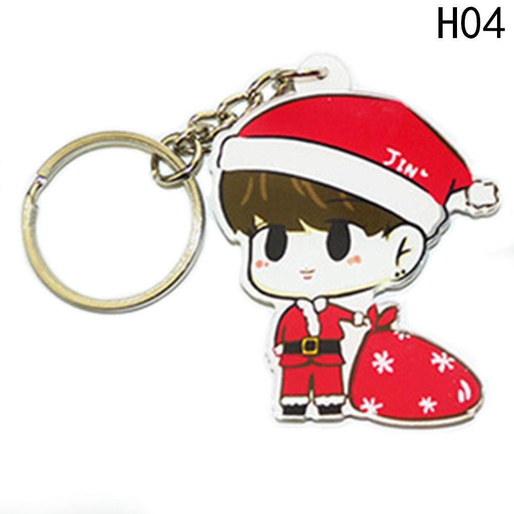 Kpop Kartun BTS Karakter Gantungan Kunci Bangtan Gantungan Kunci Anak Laki-laki H04