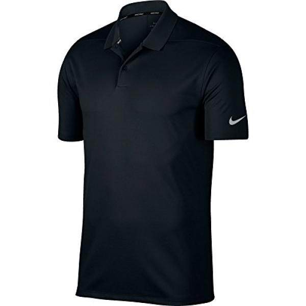 NIKE Mens Dry Victory Solid Polo Golf Shirt, Black/Cool Grey, - intl
