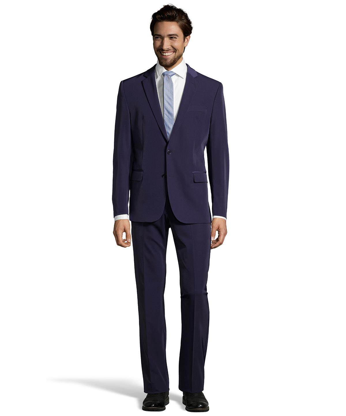 Men's Dark Blue Blazer 2 Button, black suit design (Premium Quality)