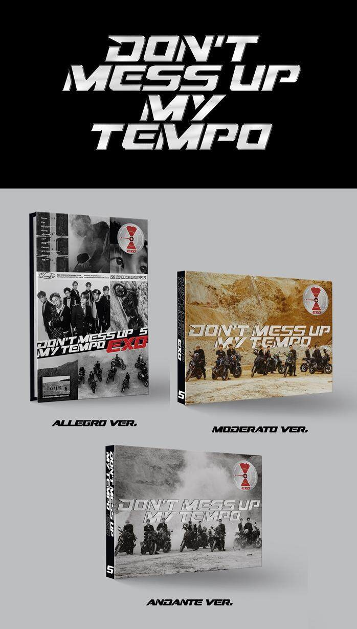 EXO - DONT MESS UP MY TEMPO [5TH ALBUM]  (VER. RANDOM / Floded Poster)
