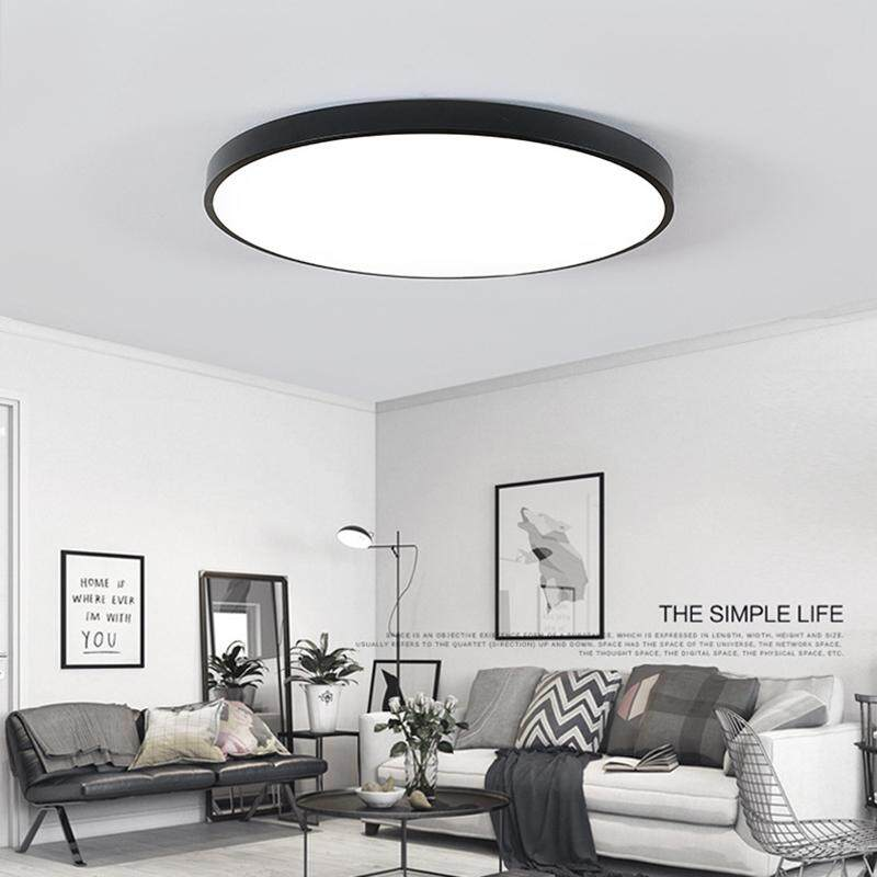 Round LED Ceiling Light Adjusting Lamp Panel Kitchen Room Surface Mount Lighting