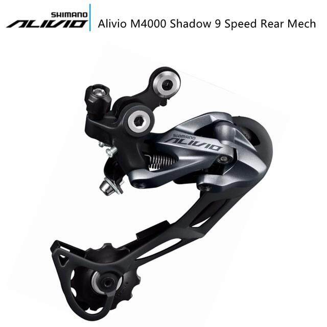 Shimano Alivio M4000 Shadow 9 Speed Rear Mech Mountain Bike Rear Derailleur