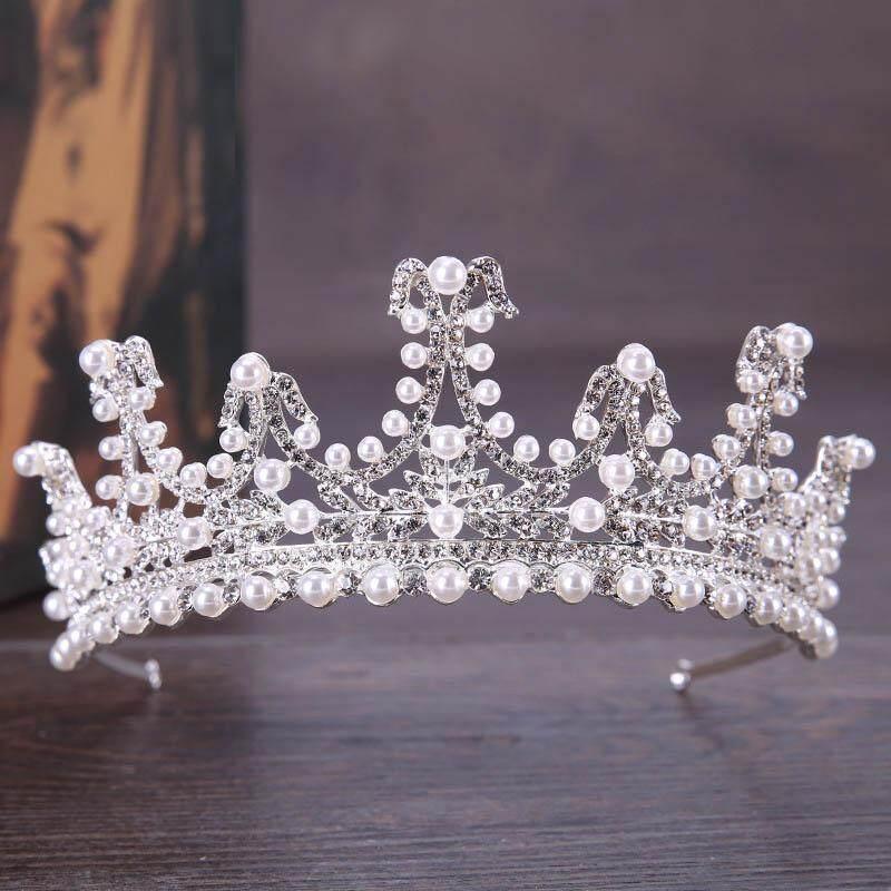Home · Allwin Mengilap Kristal Berlian Imitasi Klasik Mahkota Tiara Prom Pernikahan Pengantin Wanita Ikat Kepala