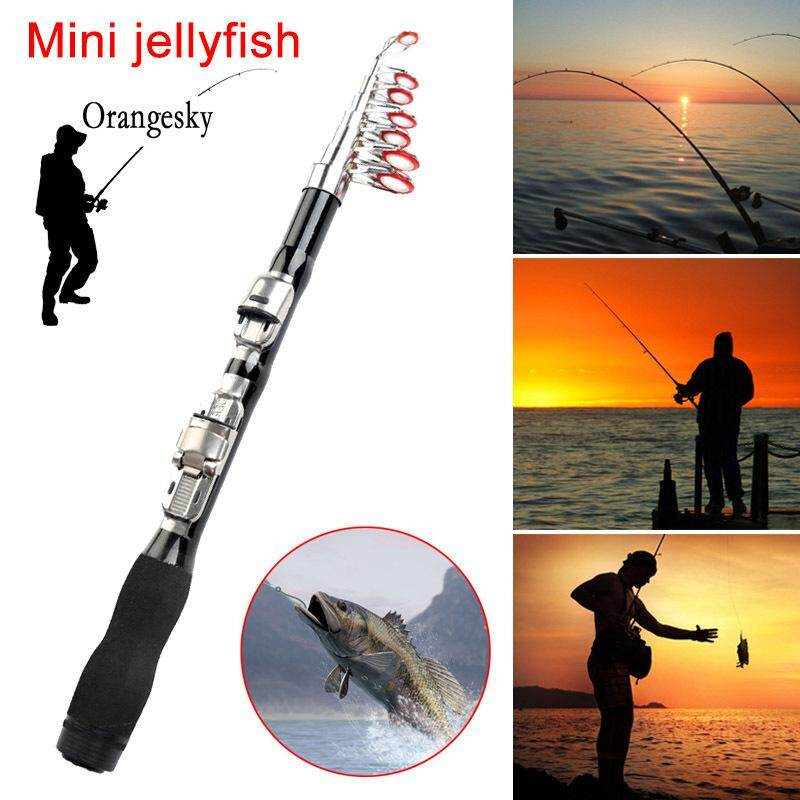 Orangesky Telescopic Fishing Rod Retractable Travel Spinning Reel Fishing Pole By Orangesky.