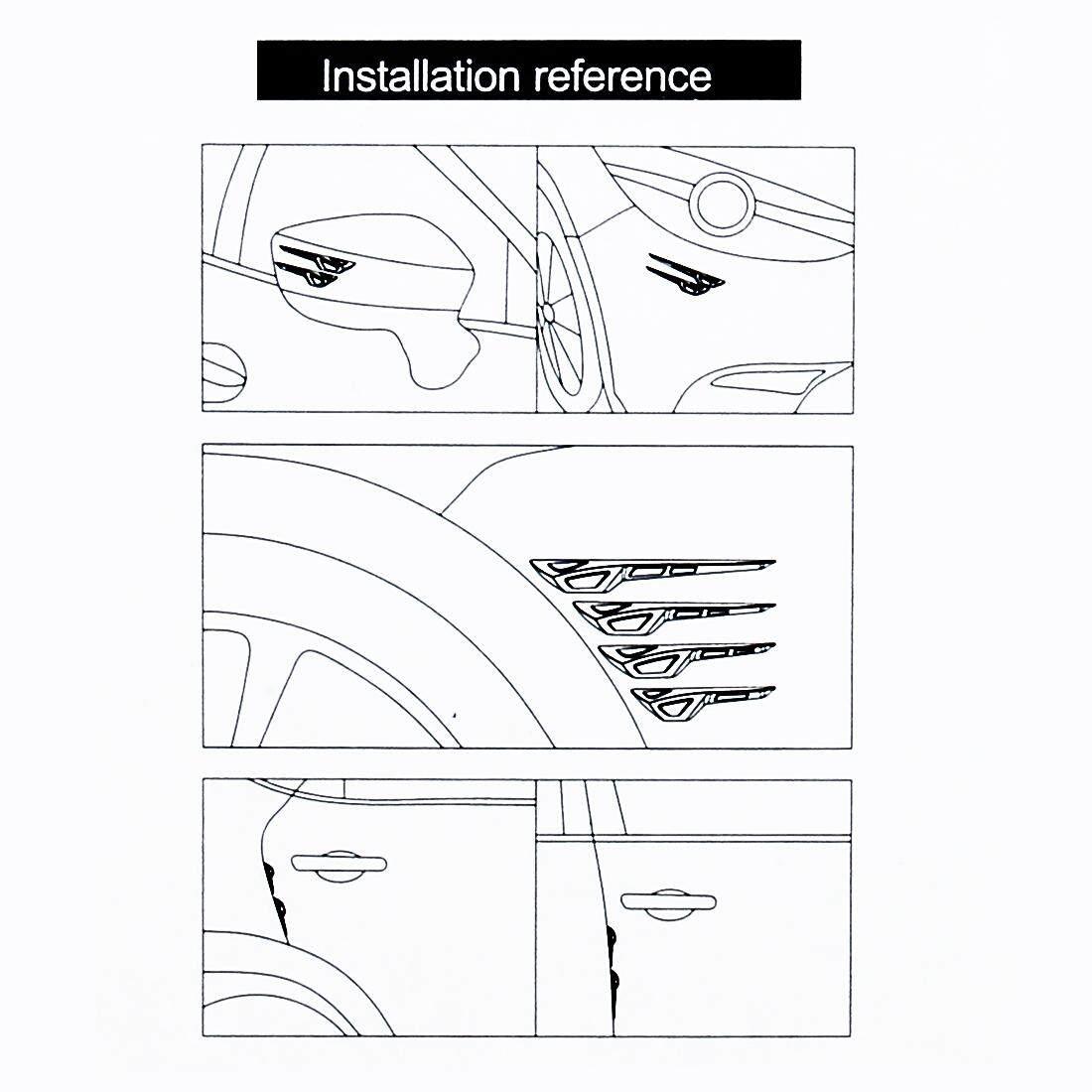 8 Pcs Mobil Pintu Kendaraan Penjaga Sisi Antihantam Strip Eksterior Menghindari Gundukan Collsion .