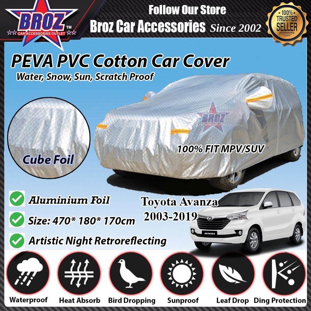 Toyota Avanza Car Body Cover PEVA PVC Cotton Aluminium Foil Double Layers - MPV