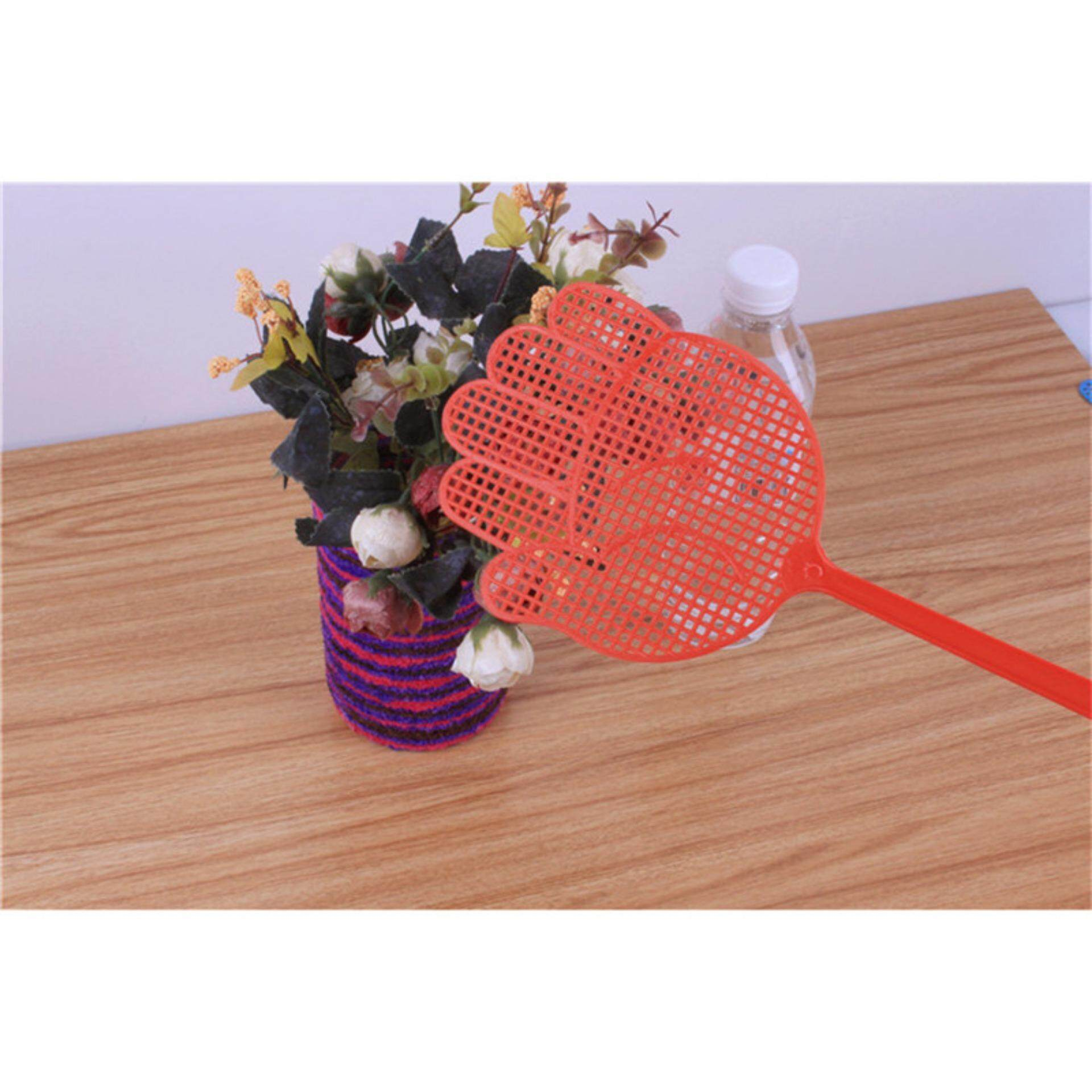 High-Grade 10PCS/Set Plastic Pest Control Mosquito Bug Hand Pattern Fly Swatter - intl
