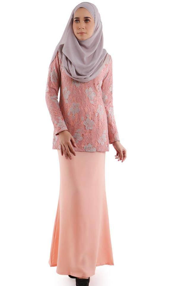 JF Fashion Lynne Mini Kurung 2 Tone Lace M405