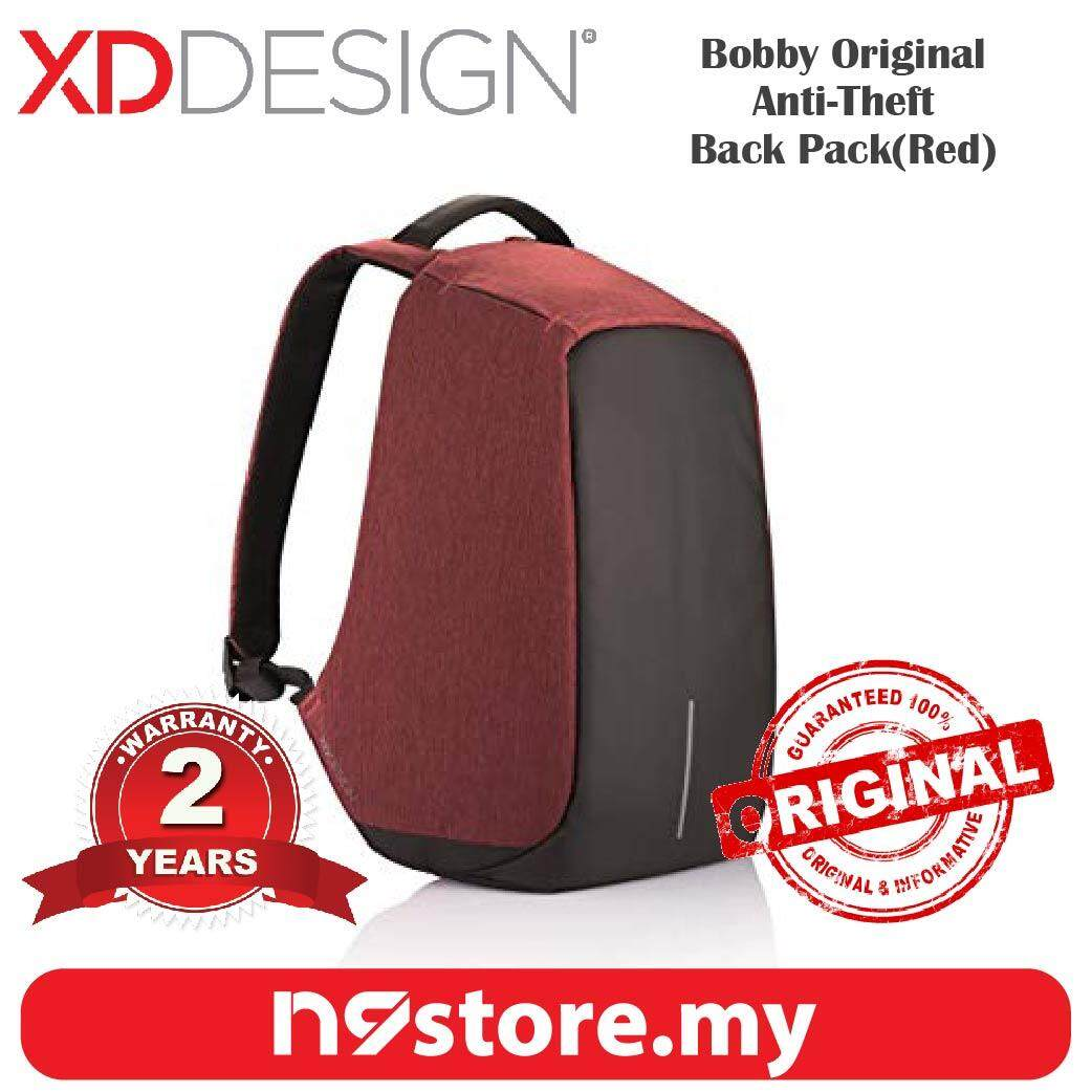 XD Design Bobby Original Red Anti-Theft Cutproof Backpack