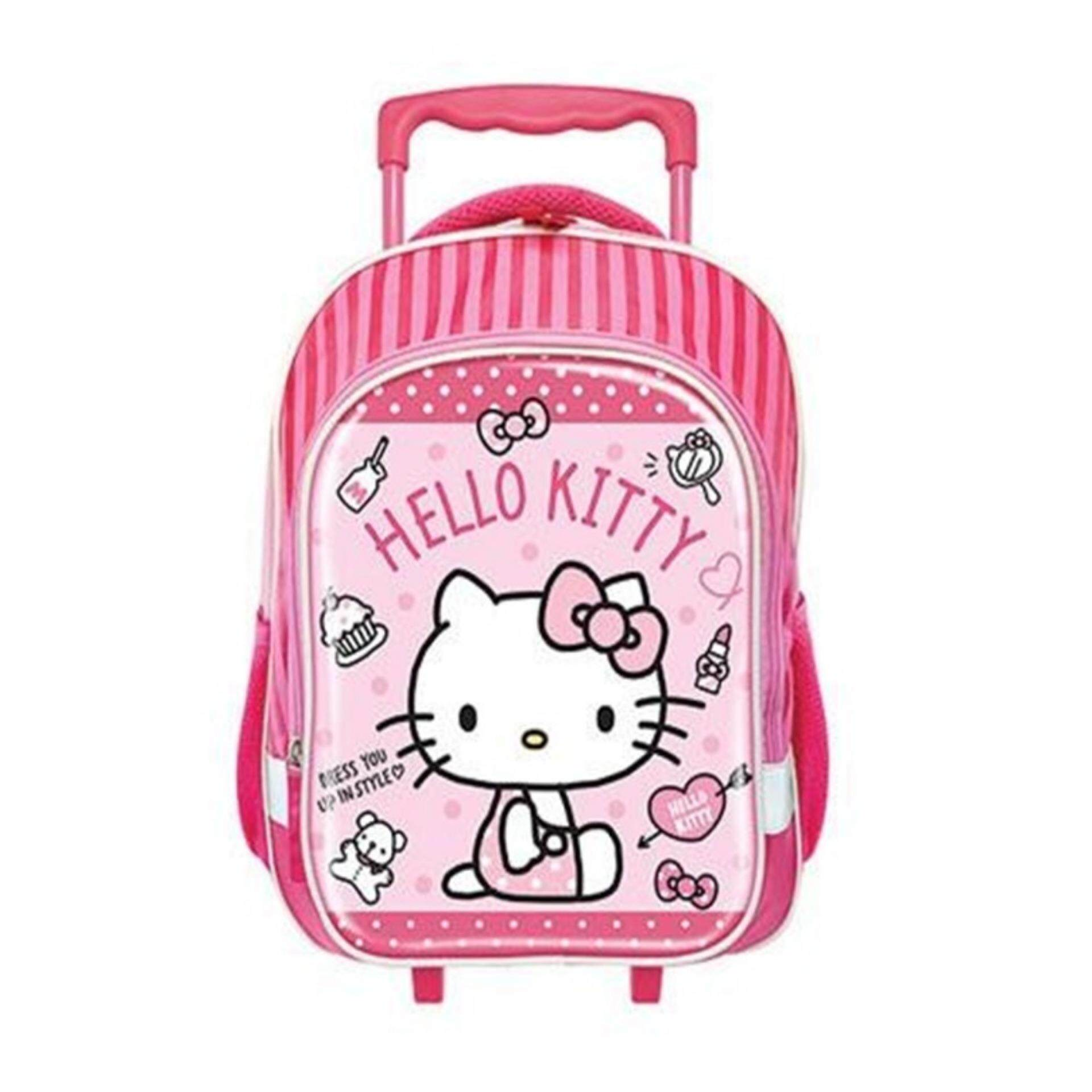 Sanrio Hello Kitty Pre School Kindergarten Nursery Kids Children School Trolley Bag - Pink Colour