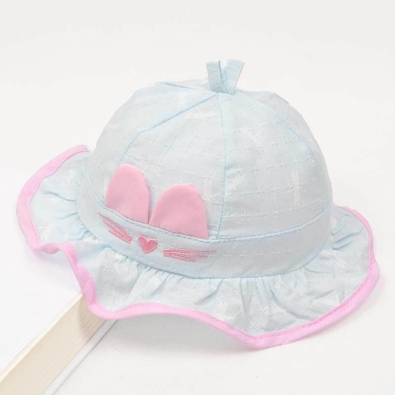 5fd929b9a65 Cute Cat Infant Cotton Baby Cap Newborn Hat Baby Girl Summer Hat Bucket Hat  Baby Sun