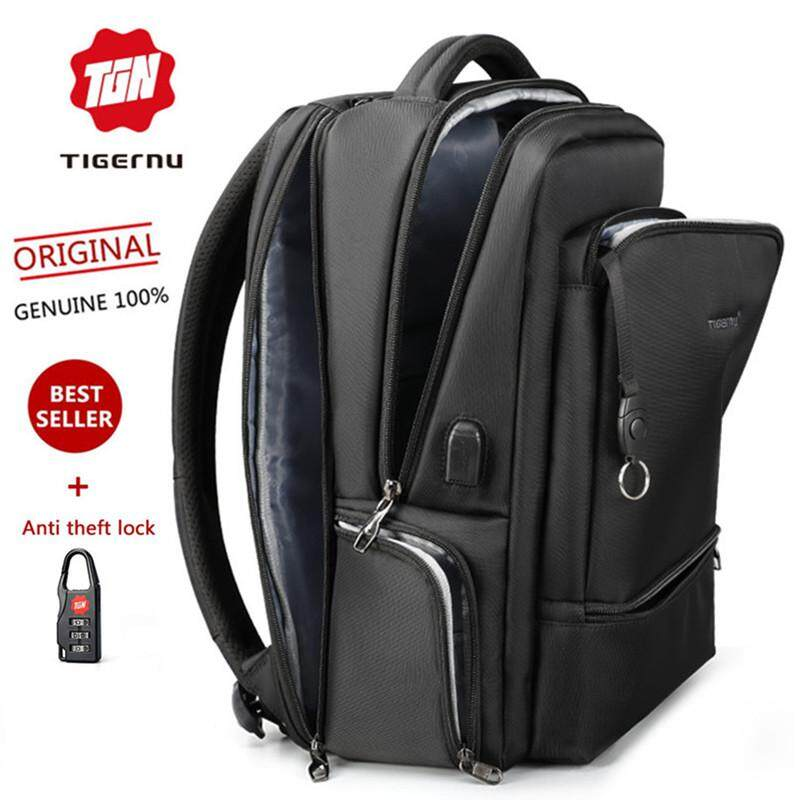 Tigernu USB Waterproof Nylon 15.6 Inch Laptop Backpack Multifunction  Anti-theft Business Backpack Casual Travel bfb532b8a8791
