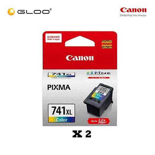 [Set of 2] Canon Fine 11 CL-741XL TriColor Ink Cartridge