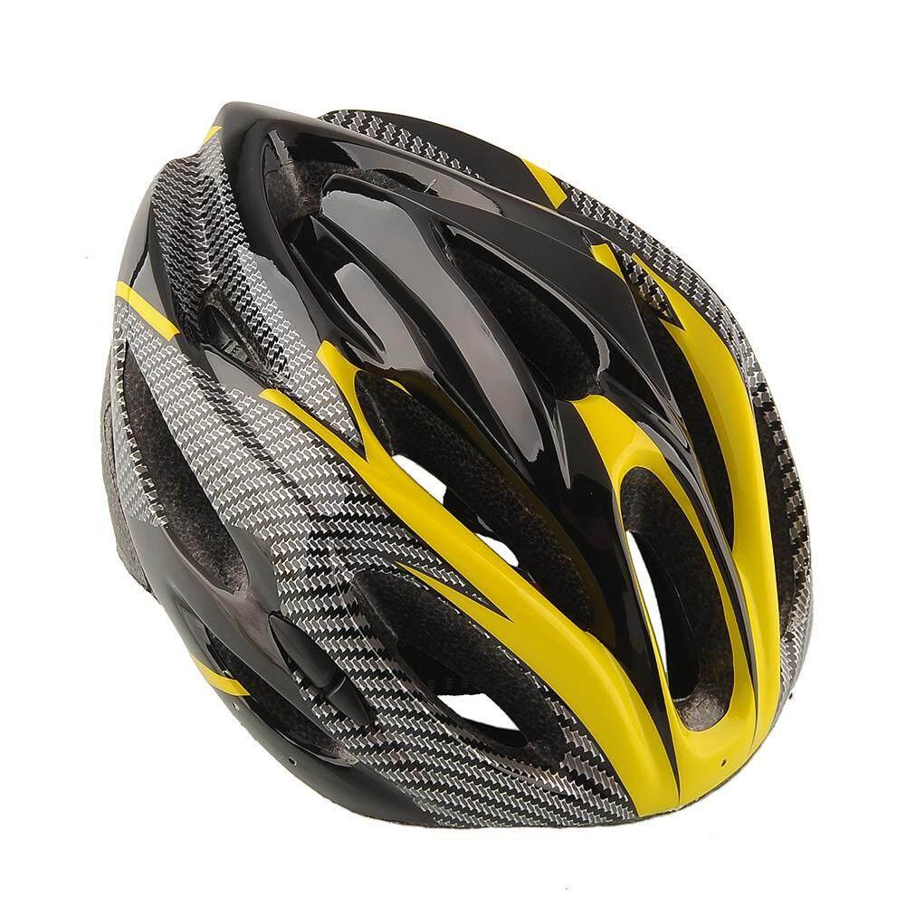 Yoyotoy Sepeda Gunung Balap Kuning Helm Unisex Wanita Dewasa Safety Karbon