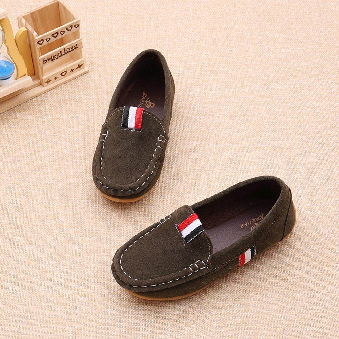 Girls' Boys' Kids Cute Suede Leather Slip-On Loafers Flats Casual Shoes - intl - 2