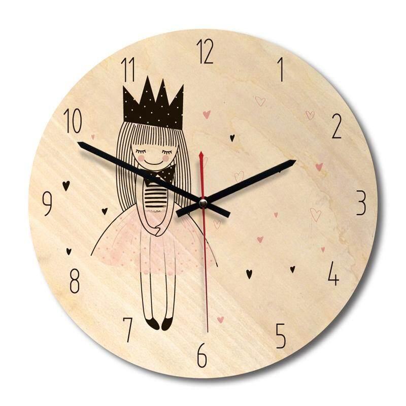 Cartoon creative wall clock modern minimalist living room creative clock art clock princess Section A Free Shipping