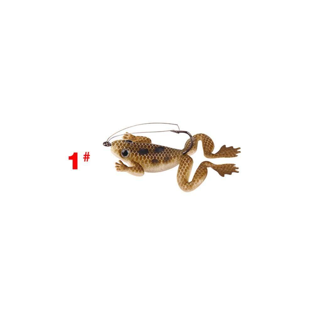 Jayaskyie 4 Pcs Umpan Ikan Plastik 4.5 Cm Silikon Cacing Umpan Umpan Pancing dengan Garam Memancing