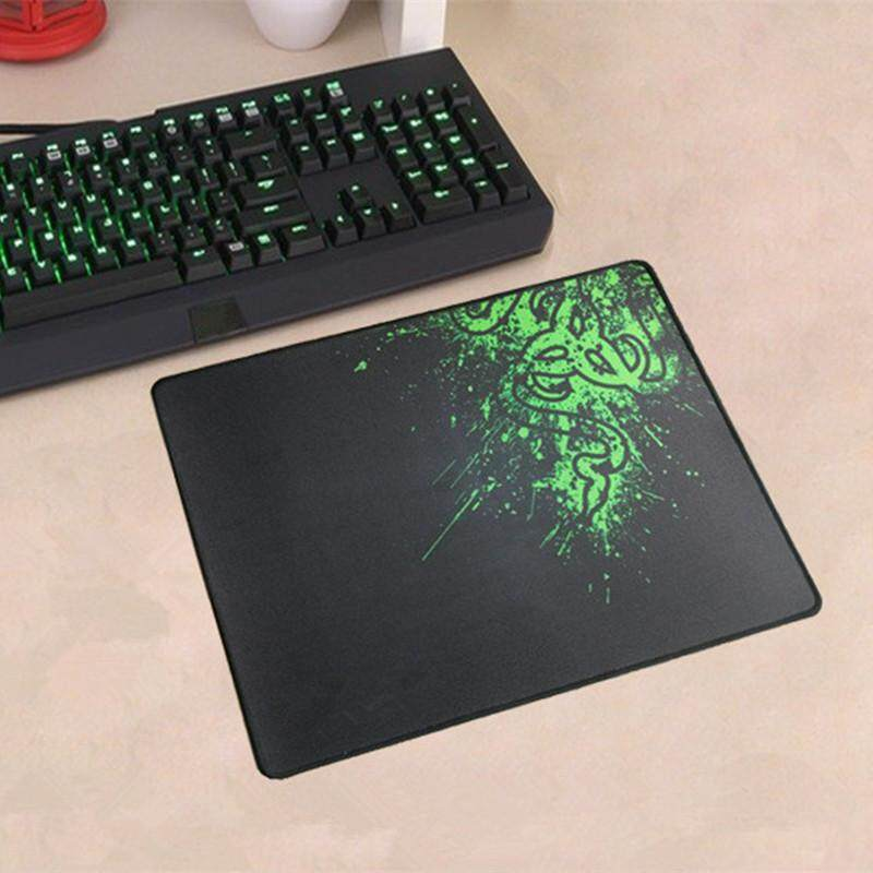 Rubber Anti-slip Overlocking Gaming Mouse Pad Keyboard Mat (32.5*24.5*0.2cm) Malaysia