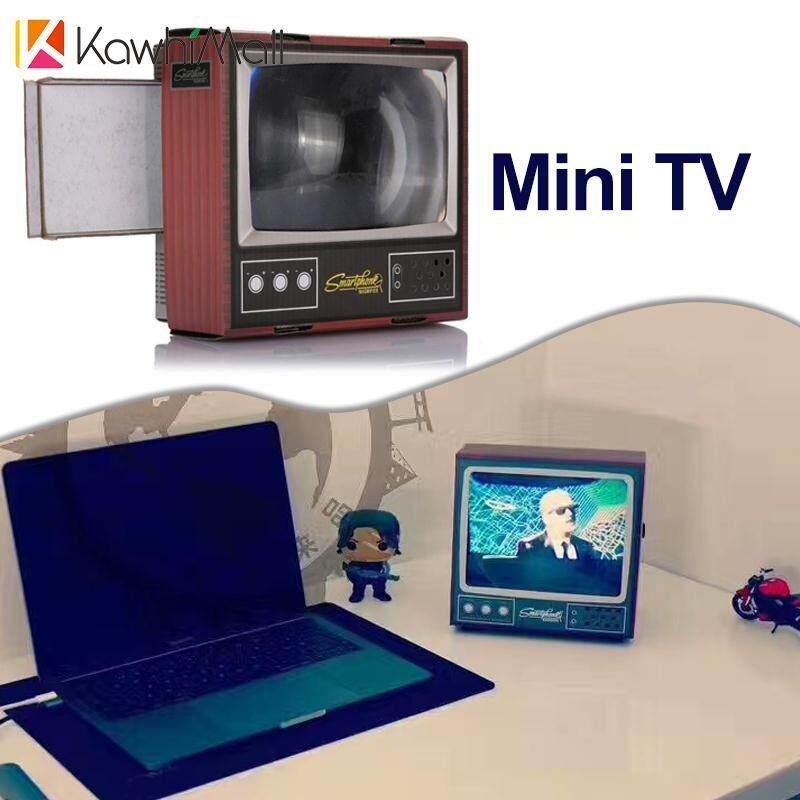 KawhiMall Sáng Tạo Mini Di Động TIVI TỰ LÀM Điện Thoại Thông Minh Máy Chiếu Bằng Gỗ Màu Sắc